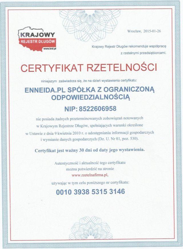 Сертификат Честной Компании